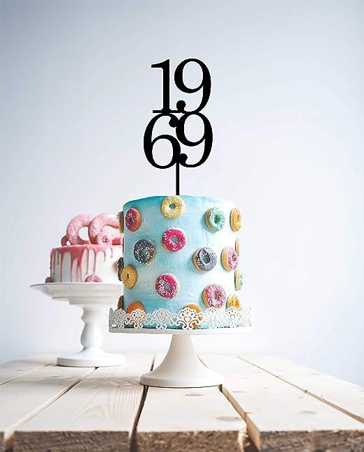Decoración para tarta de 50 cumpleaños de 1969 con 50 ...