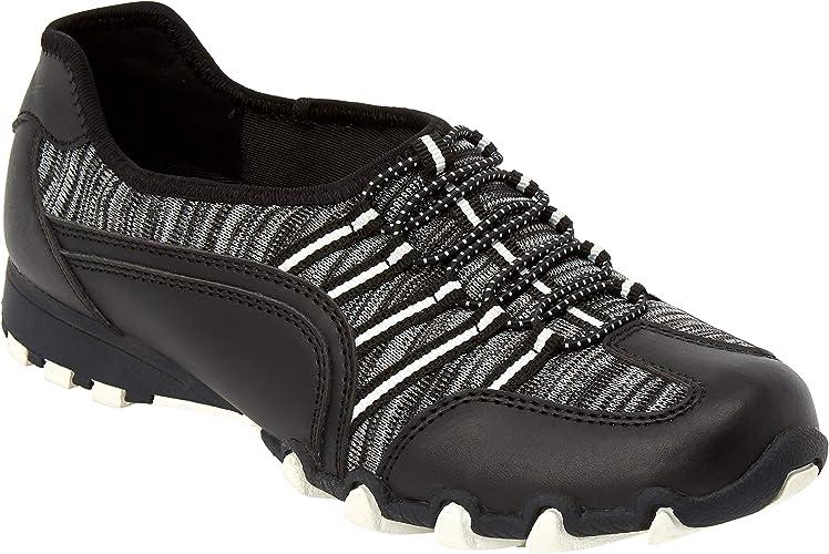 Women's Skechers, Bikers Knit Happens Slip on Shoes Wide Width