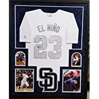$449 » Fernando Tatis Jr San Diego Padres Autograph Signed Custom Framed Authentic Jersey White Rare PLAYERS WEEKEND EL NINO Suede Matted 4…
