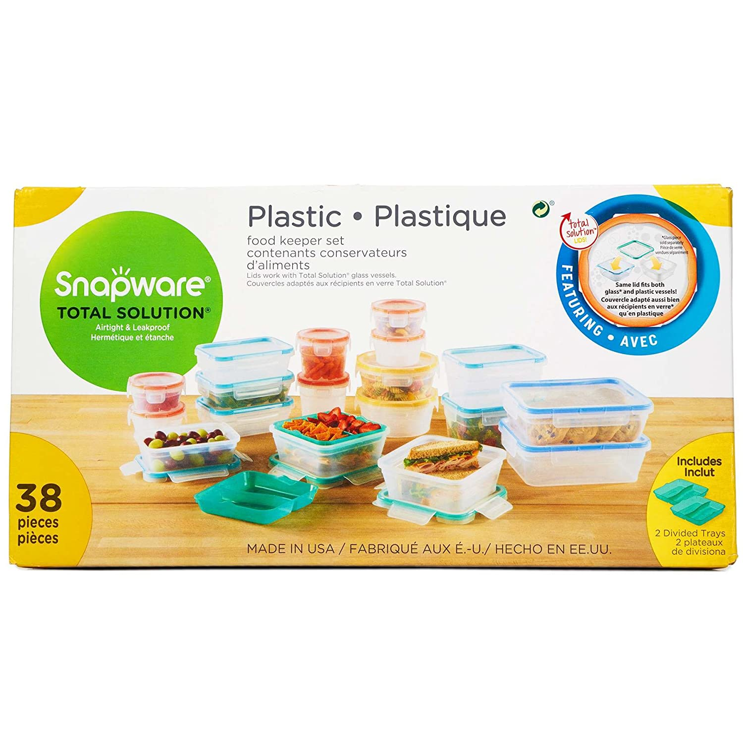 Amazon.com: Snapware 2 Cup Total Solution Rectangle Food Storage Container,  Glass: Kitchen U0026 Dining