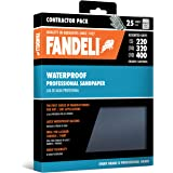 Fandeli Sandpaper Grit, wet dry sandpaper, sandpaper sheets, waterproof sandpaper, assortment pack, for automotive, polishing