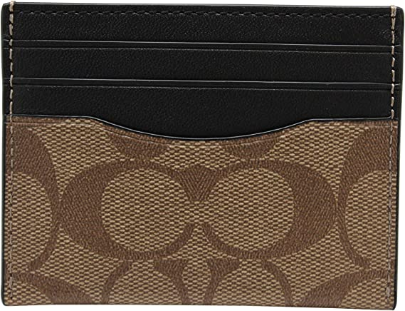 Coach Mens F58110 ID Card Case Signature QB/Tan