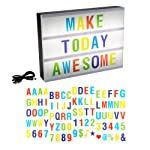 Lavish Home 72-LTBOX2 LED Cinematic Light Decorative Box Sign Interchangeable Multicolor Letters Numbers Symbols, A4 Size...