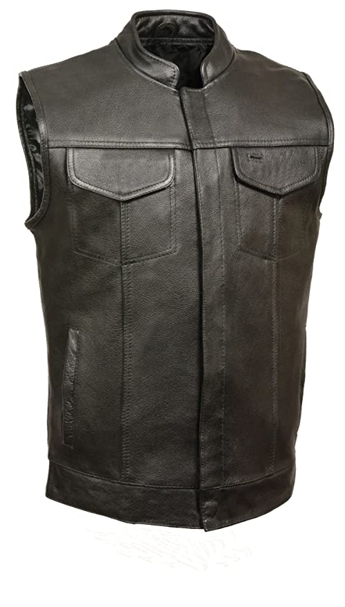 Lovely Naked Leather Waistcoat Motorbike Biker Mens Motorcycle Vest Laced Texpeed Men's Clothing