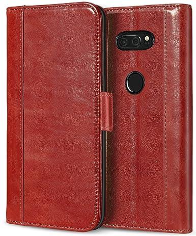 newest ea50f 95c61 ProCase LG V30 Genuine Leather Case, Vintage Wallet Folding Flip Case with  Kickstand Card Holder Protective Cover for LG V30, LG V30 Plus, LG V30S ...