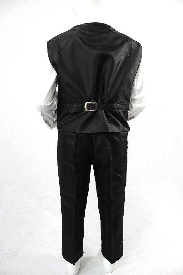 Schwarz Jungen-Anzug f/ür 12-j/ährige 5 teilig
