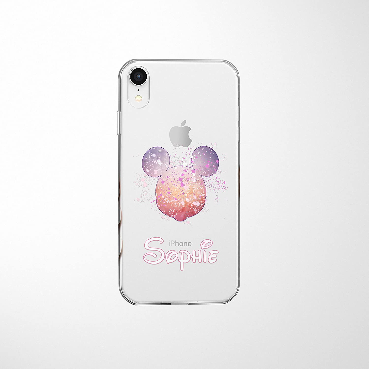 Smartgiftshop Cartoon Movie Personalised Clear Tpu Phone Cover Case For Iphone Samsung Disney Iphone 6 6s Disney Mickey Pink Amazon Co Uk Electronics