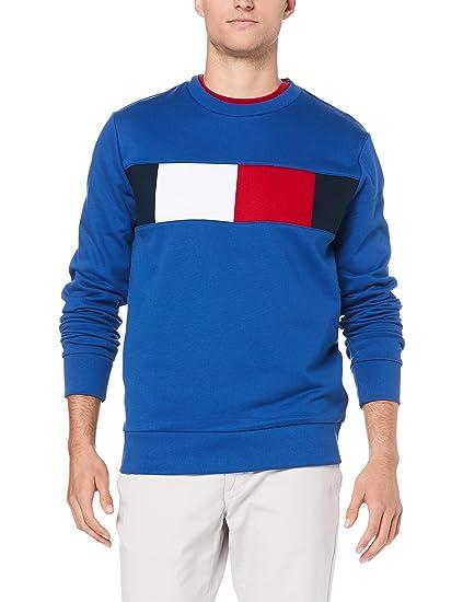 c3d04b05 Tommy Hilfiger Men's Flag Chest Logo Sweatshirt, Blau (Blue Quartz 431), ...