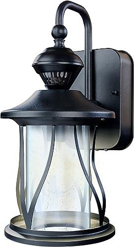 Heath Zenith HZ-4010-BK 150 Motion Sensing Decorative Security Light with DualBrite Technology, Black