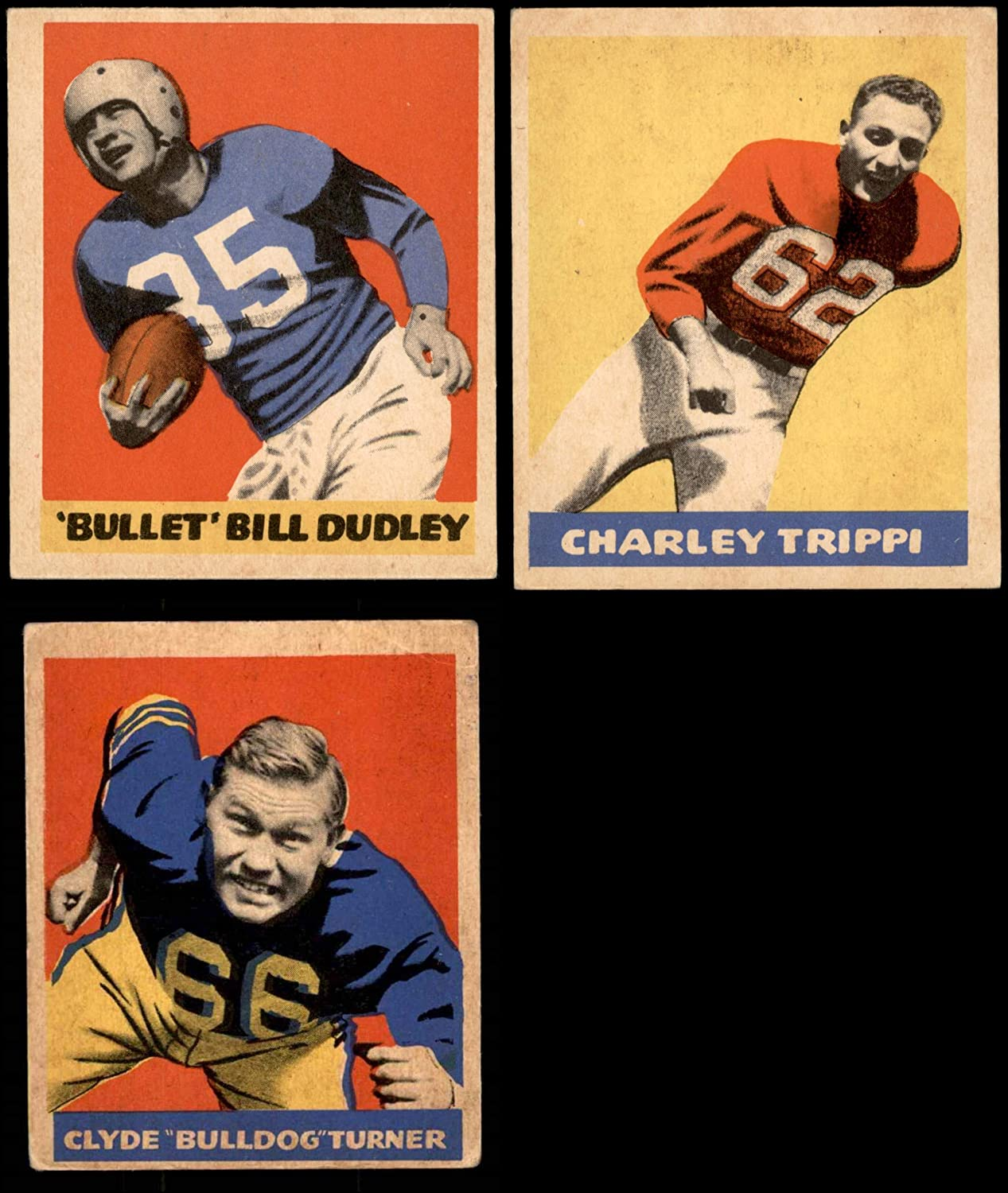 1949 Leaf Football Partial Complete Satz (Football Set) Dean'S Cards 3.5 - Vg+