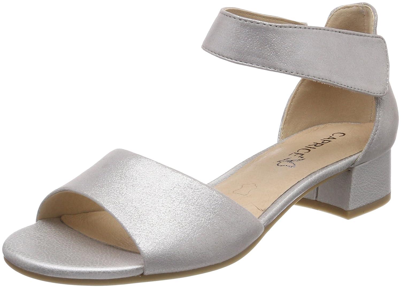 Caprice 28212 Sandali con Cinturino alla Caviglia Donna Argento Silver