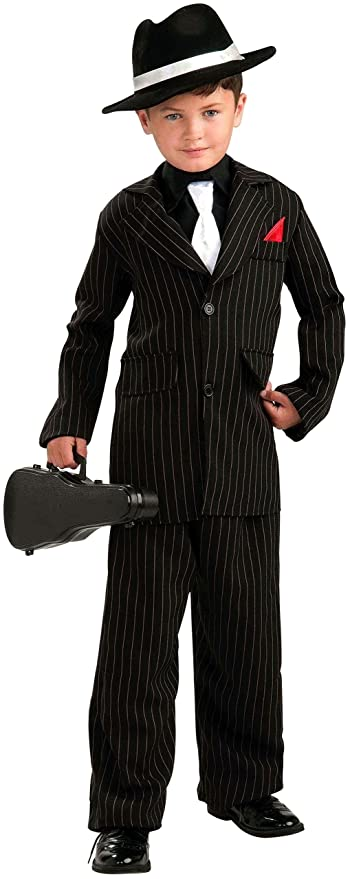 Gangster Costumes & Outfits | Women's and Men's Forum Novelties Littlest Gangster Child Costume Large $20.76 AT vintagedancer.com