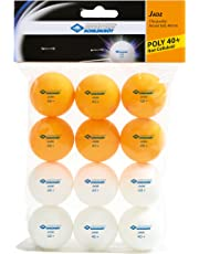 Donic- Schildkröt Table Tennis Ball Jade Poly 40+, 6 pcs. White/ 6 pcs. Orange in Polybag
