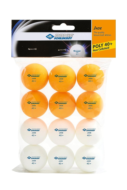 Donic-Schildkröt Table Tennis Balls 1T Training 40 mm, 12 pieces (6 white, 6 orange), Trainigsball, 618045