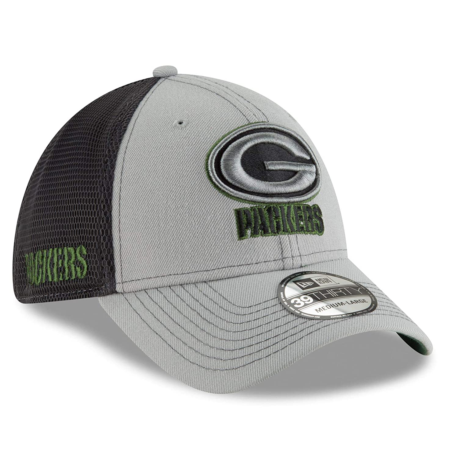 e6821914780 ... promo code for green bay packers 2t sided 39thirty stretch fit hat  graphite new era 8c8de