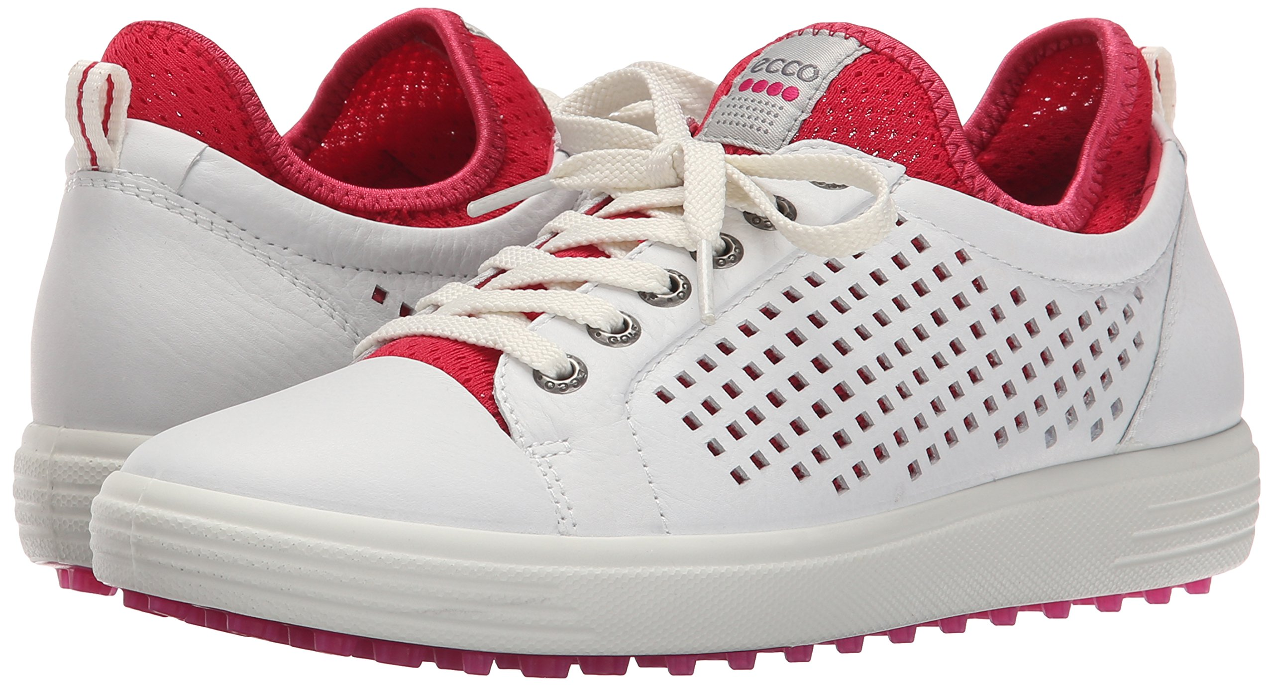 ECCO Women's Summer Hybrid Golf Shoe, White/Raspberry, 41 EU/10-10.5 M US by ECCO (Image #6)
