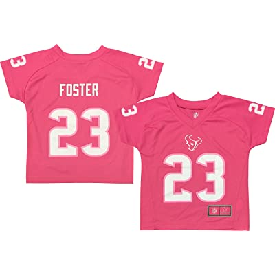 Arian Foster Houston Texans Pink Performance Fashion Kids Jersey