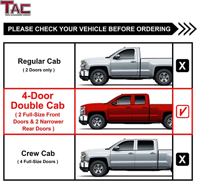1999-2014 Chevy Silverado//GMC Sierra 2500//3500 Extended Cab 4 PNC SIDEBARS Black Running Boards Nerf Bars BETTER AUTOMOTIVE Side Steps FIT 1999-2013 Chevy Silverado//GMC Sierra 1500 Extended Cab