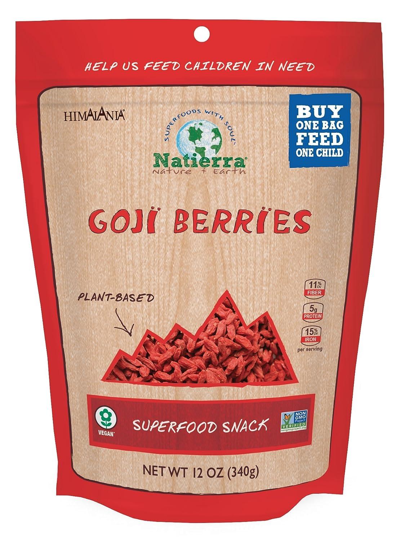 Amazon Com Natierra Himalania Goji Berries Non Gmo Vegan 12 Ounce Grocery Gourmet Food