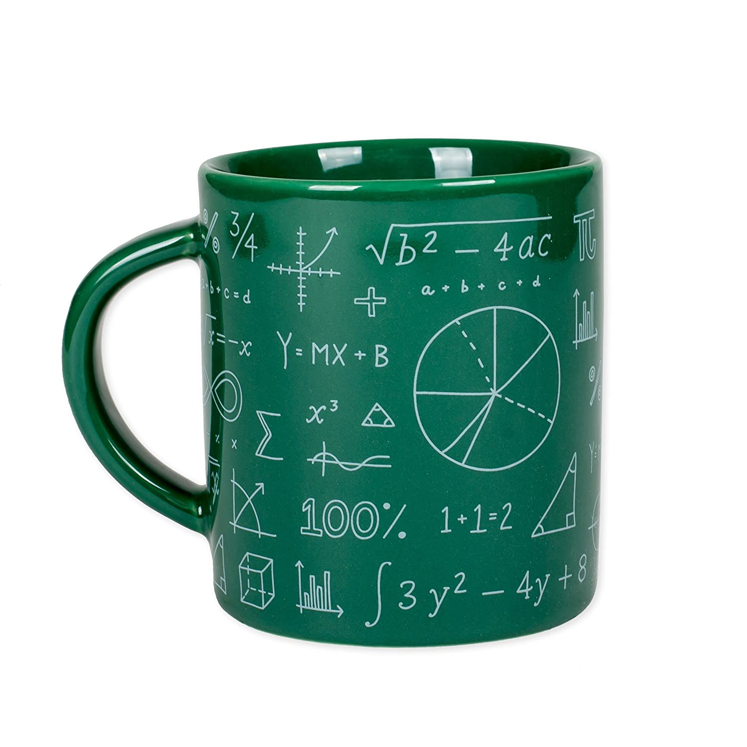 4 Out of 3 People Struggle with Math Green 12 Ounce Ceramic Coffee Mug