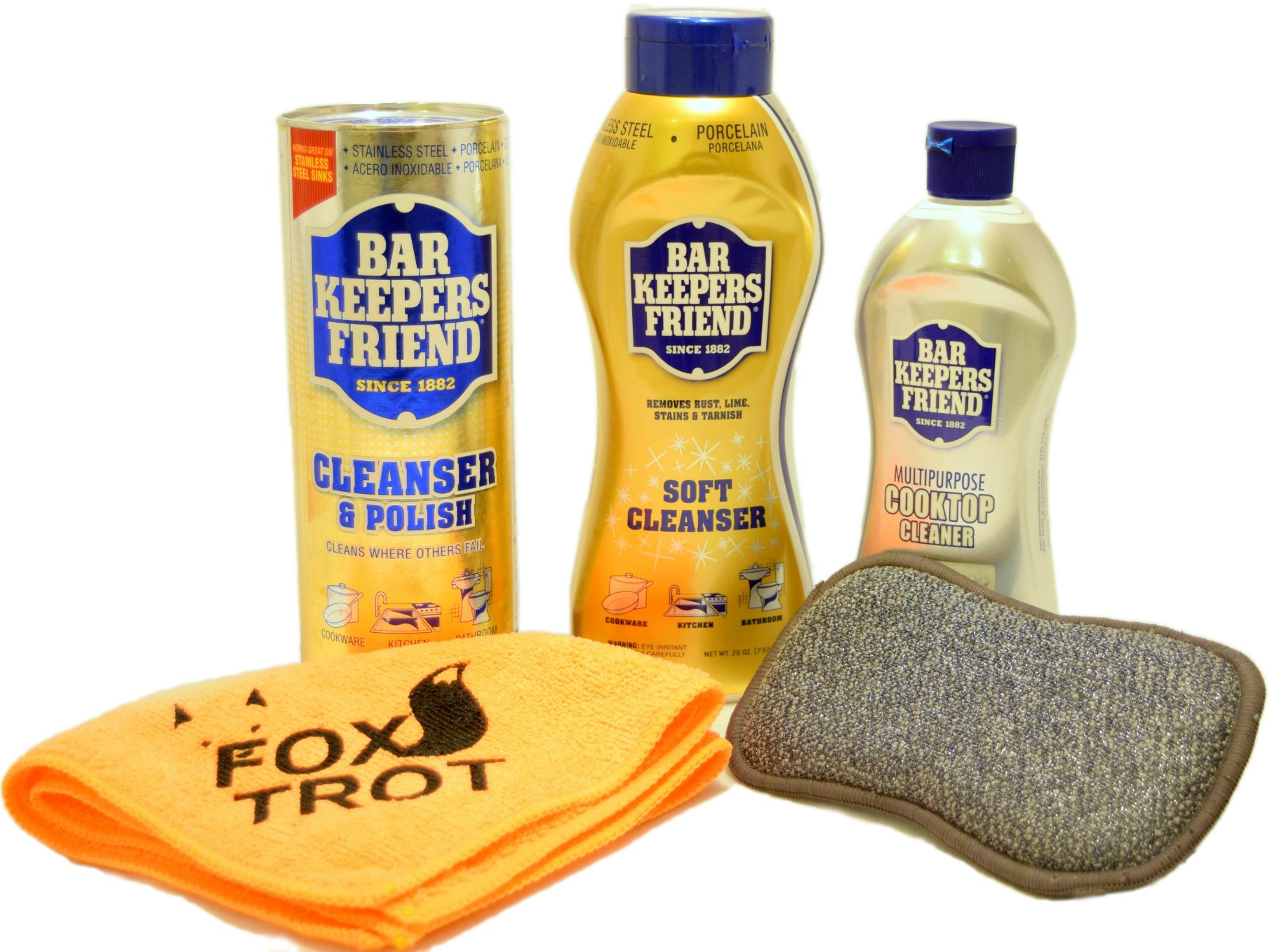 Bar Keepers Friend Cleanser Trio   Mega Bundle (21 Oz Cleanser U0026 Polish  Powder |