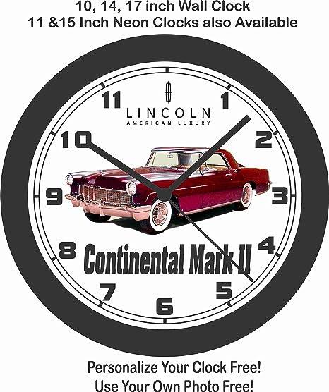 amazon jim s classic clocks 1956 lincoln continental mark ii 1961 Corvair Monza jim s classic clocks 1956 lincoln continental mark ii wall clock free usa ship