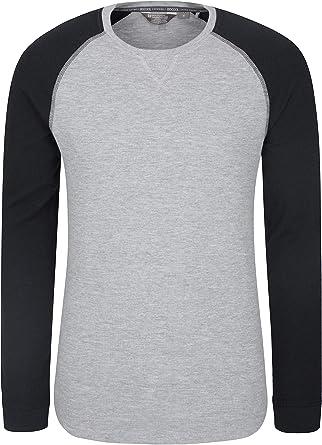 Mountain Warehouse Camiseta de Manga Larga para Hombre Waffle - Camiseta con Cuello Redondo, protección Solar UPF30, Ligera, Transpirable, Secado rápido Carbón 3XL: Amazon.es: Ropa y accesorios