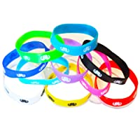 Bracelets Silicone Moustache Colorés (Lot de 100)