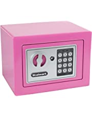 Stalwart 65-E17-PINK Steel Digital Steel Security Safe for Valuables, Pink