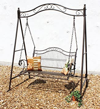 Swing 082505 Sun Lounger Made From Metal Wrought Iron Garden Swing