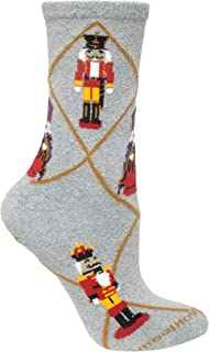 product image for Christmas Nutcracker Gray Ladies Socks