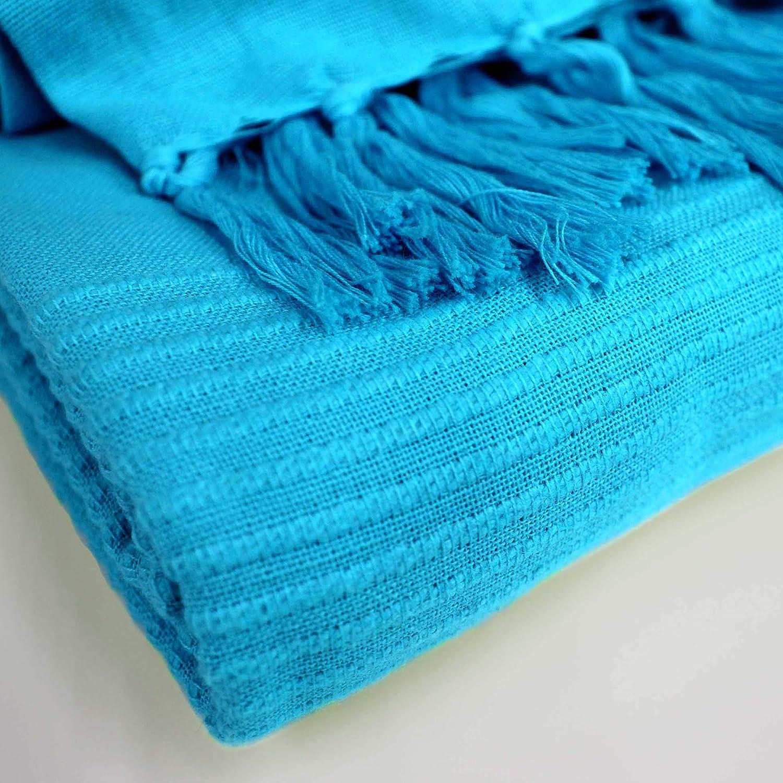 one-home Tagesdecke Bett/überwurf 220x240 cm Sofa /Überwurf Bettdecke Doppelbett Baumwolle Farbe:T/ürkis
