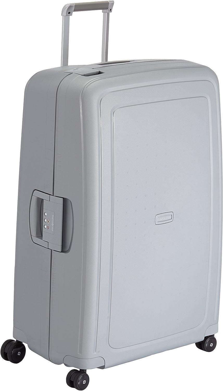 Samsonite S'Cure Spinner - Maleta de equipaje, XL (81 cm - 138 L), Plata (Silver)
