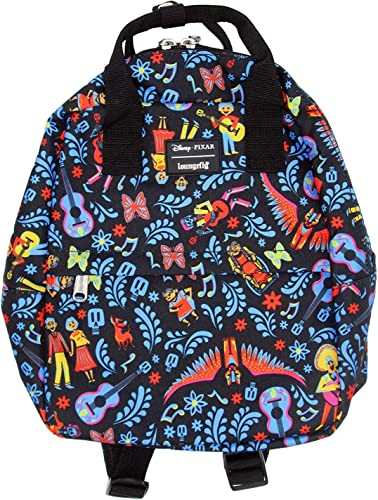 Loungefly x Coco Collage Nylon Mini Backpack Multicolored