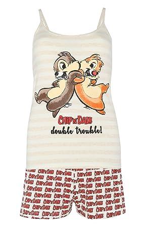 d712297e68fd8 Disney Chip and Dale Ladies Cami Short Pyjama Set PJ Nightwear Women s  Primark Size S -