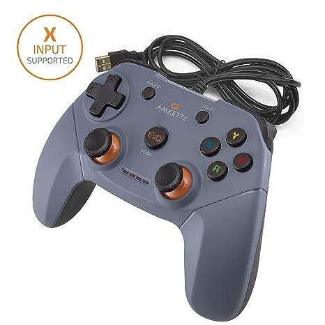 Amkette Evo Elite Wired PC Gamepad for PC/PS3 Compatible