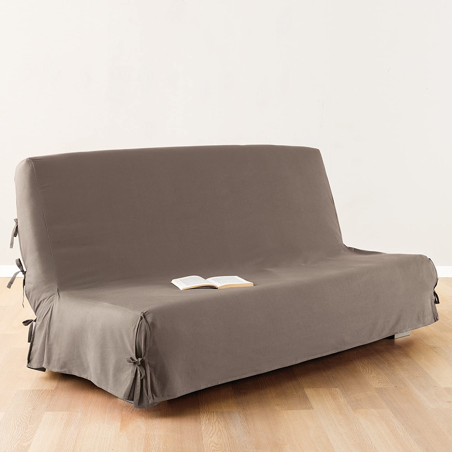 Sofa bed Futon cover 100 % cotton colour TAUPE Amazon