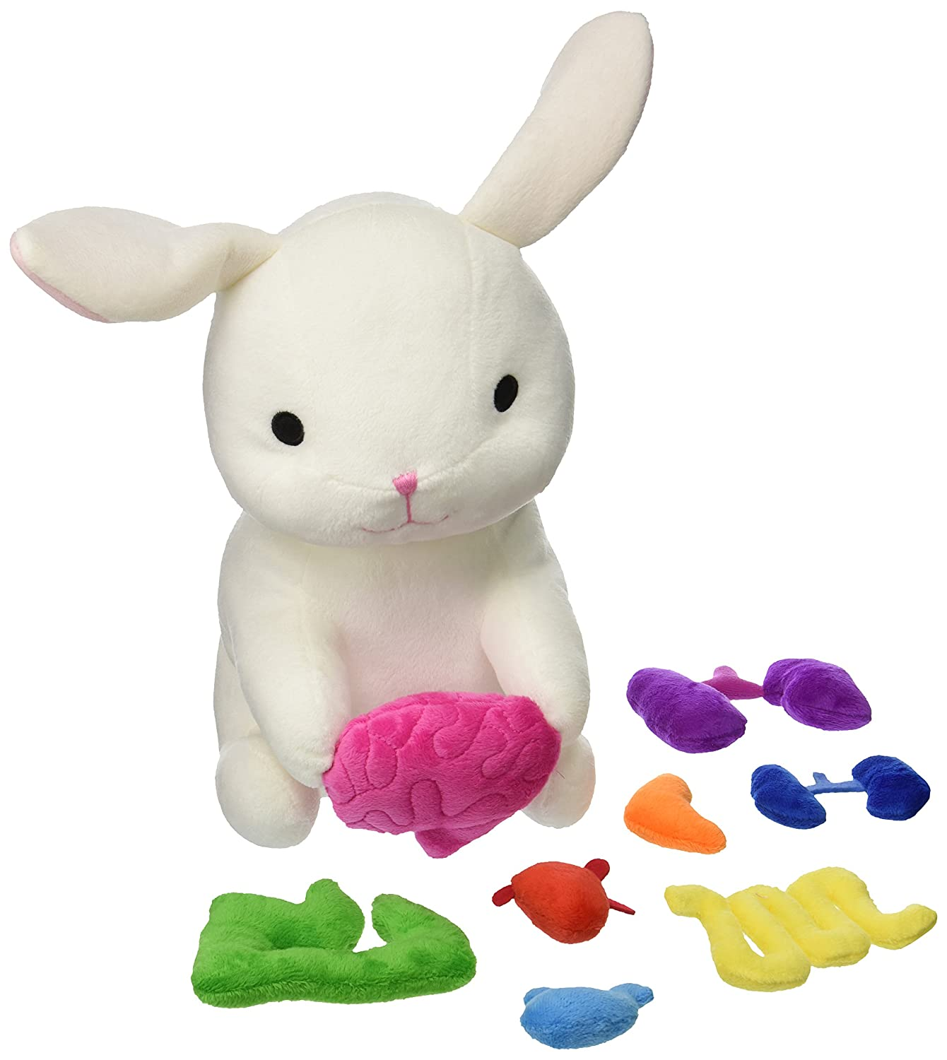Amazon.com: Giblets White Plush Stuffed Bunny with Removable Organs ...