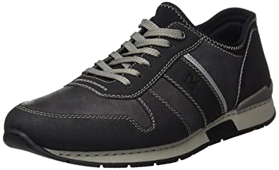 Rieker 19400, Sneakers Basses Homme, Noir (Schwarz/Rauch/Schwarz/Schwarz), 42 EU