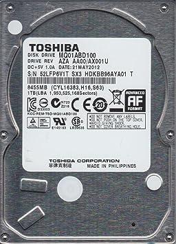 MQ01ABD100, AA00/AX001U, HDKBB96AYA01 T, Toshiba 1TB SATA 2.5 Hard