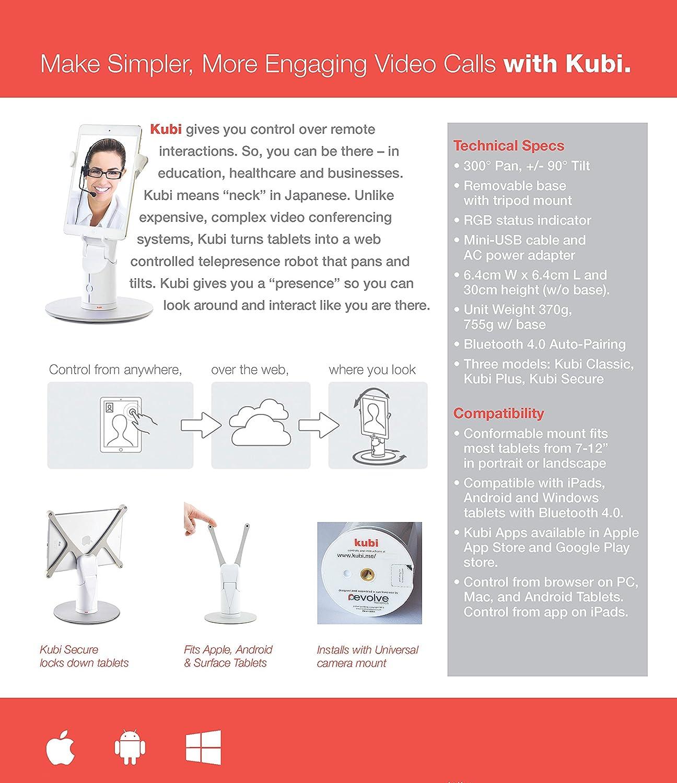 Kubi Revolve Robotics 41-0001 Telepresence Robot Video Conferencing Tablet Stand