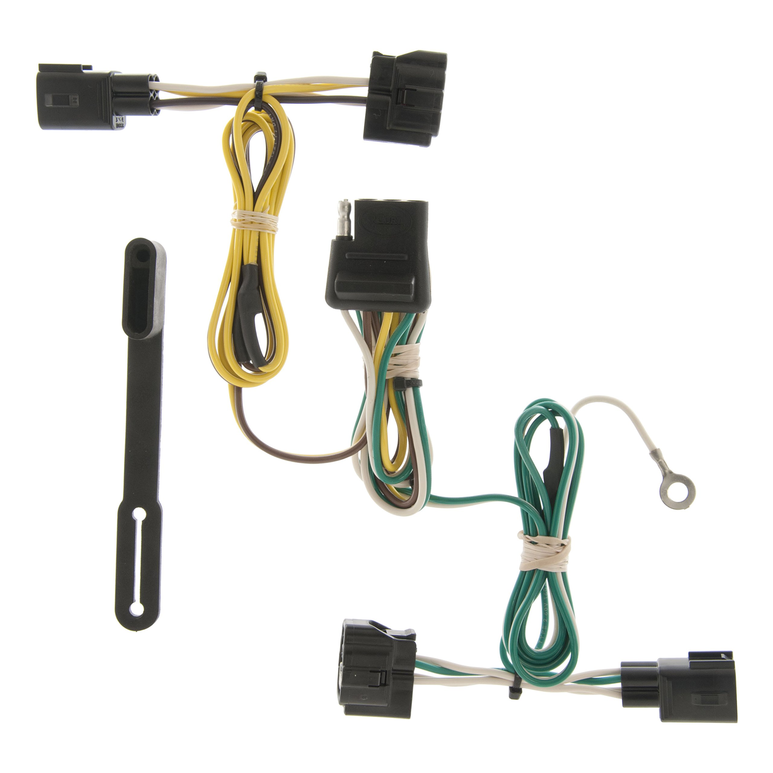 CURT 55363 Vehicle-Side Custom 4-Pin Trailer Wiring Harness for Select Jeep Wrangler by Curt Manufacturing