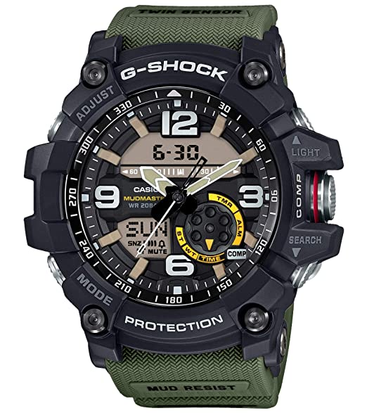 5fa2c479c192 Casio G-shock Mudmaster Black Ana-Digi Dial Resin Band Watch - GG-1000-1A3   Casio  Amazon.co.uk  Watches