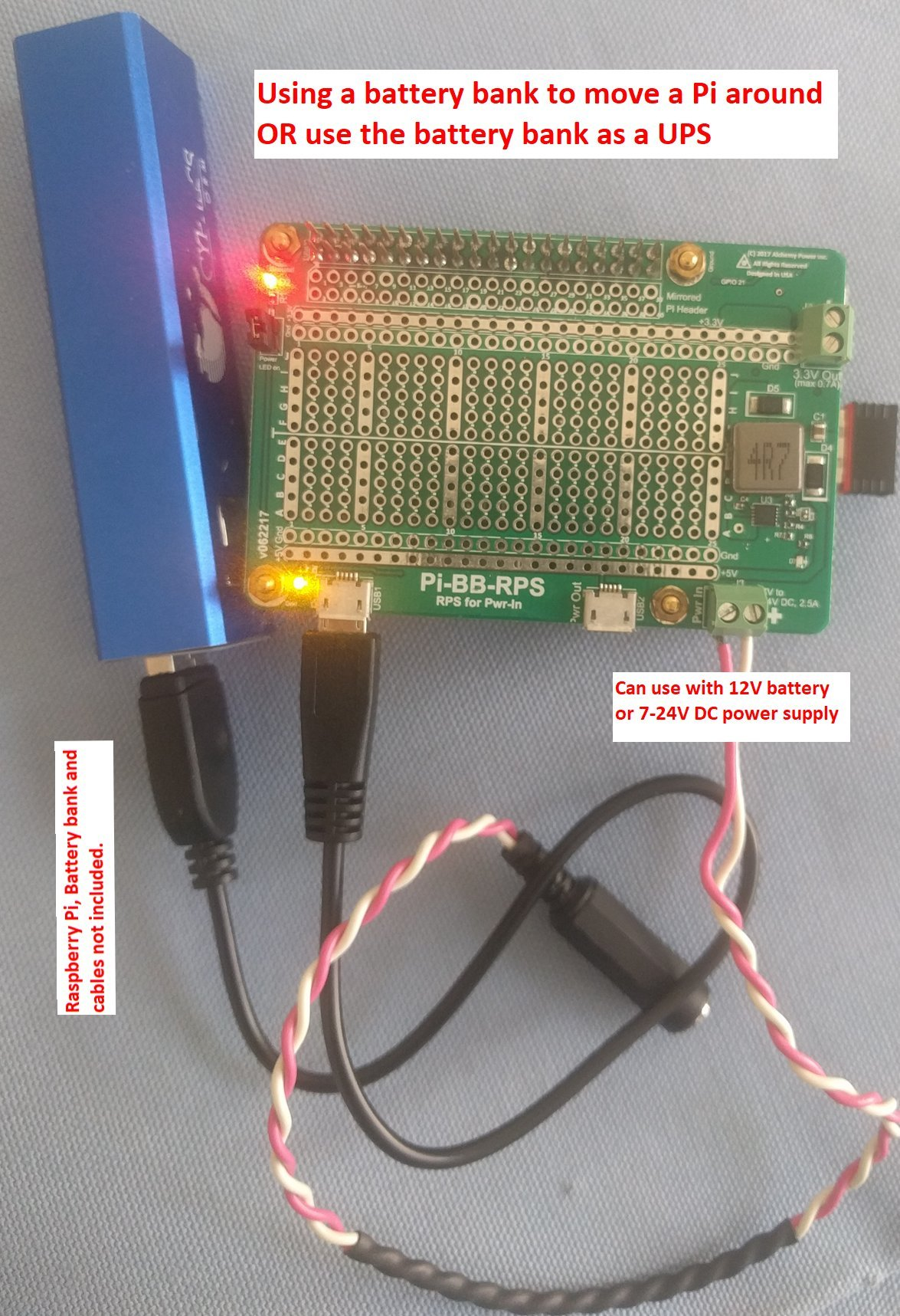 Alchemy Power Inc. Pi-BB-RPS Powered Breadboard with Redundant Power Supply (RPS) and more... by Alchemy Power Inc. TM (Image #4)