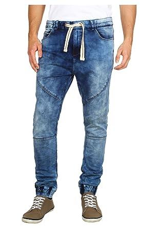 Sublevel Herren Sweat-Hose in Jeans-Optik   Skinny Jogg-Pants mit Gummibund  im Denim Style   Straight Leg   Used Look   Die Revolution der Jogging-Hose  für ... edead18efb