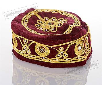 Amazon.com  Bordo Buchari Kippah Yarmulke Tribal Jewish Yamaka Kippa ... ffb81e856