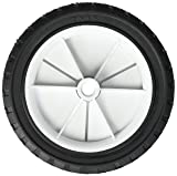 Shepherd Hardware 9611 7-Inch Semi-Pneumatic Rubber Replacement Tire, Plastic Wheel, 1-1/2-Inch Diamond Tread, 1/2-Inch Bore Offset Axle