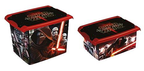 Juego de 2 Fashion Box Disney Star Wars 20L + 10L Caja Caja para juguetes