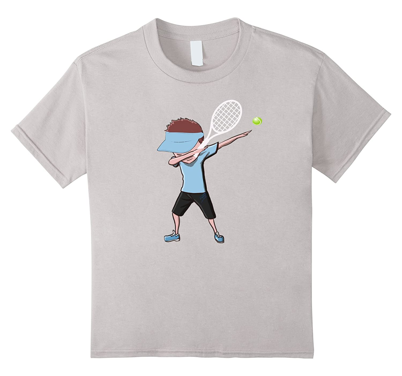Tennis Dabbing Funny T shirt Cranberry-Xalozy
