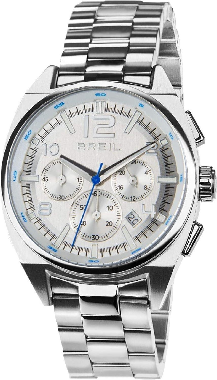 Reloj BREIL Hombre Master Esfera Plata e Correa in Acero, Movimiento Chrono Cuarzo